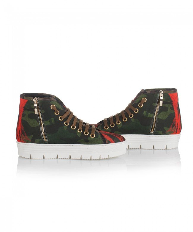 'Army Green' sneakers