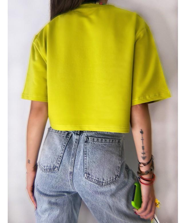 'F*ck YOU' crop t-shirt