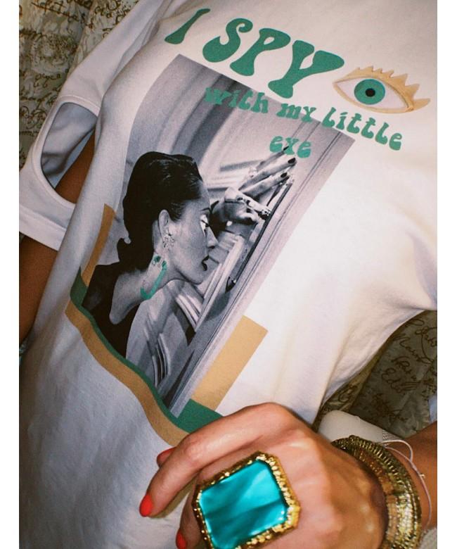 'I SPY' white t-shirt