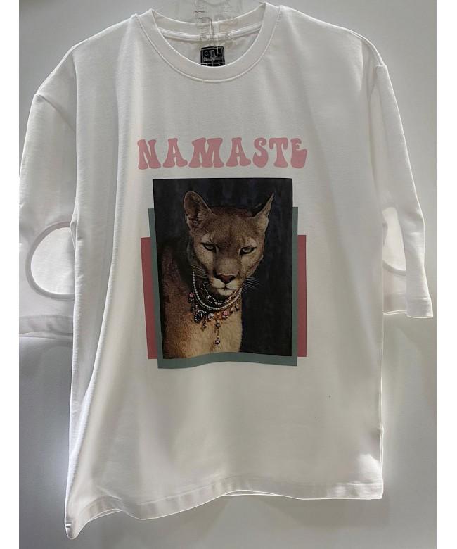 'NAMASTE' white t-shirt