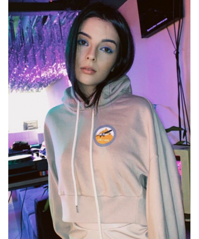 'ROME' crop hoodie