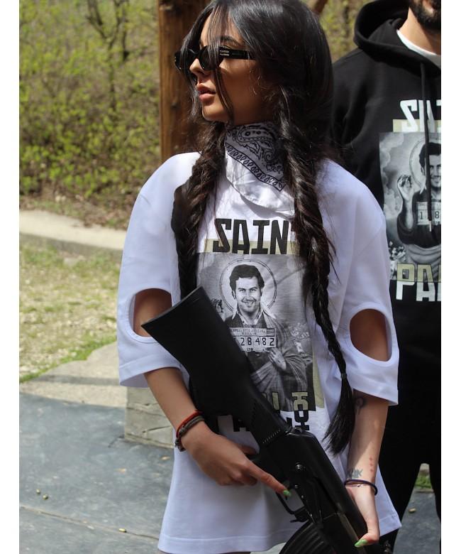 'SAINT PABLO' white oversized unisex t-shirt