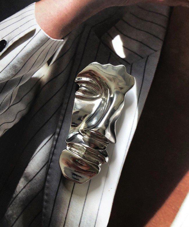 'Antheia' silver brooch