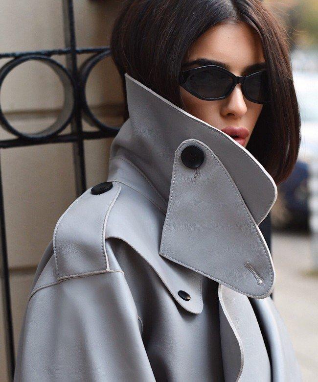 'BLADE RUNNER' grey leather jacket