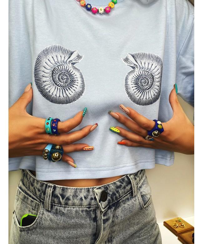 'my RAPANI' crop t-shirt